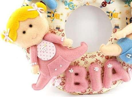 33. Guirlanda de feltro para bebê – Por: Pinterest