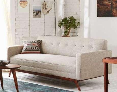 9. O tecido para sofá tweed é muito resistente e confortável. Fonte: Pinterest