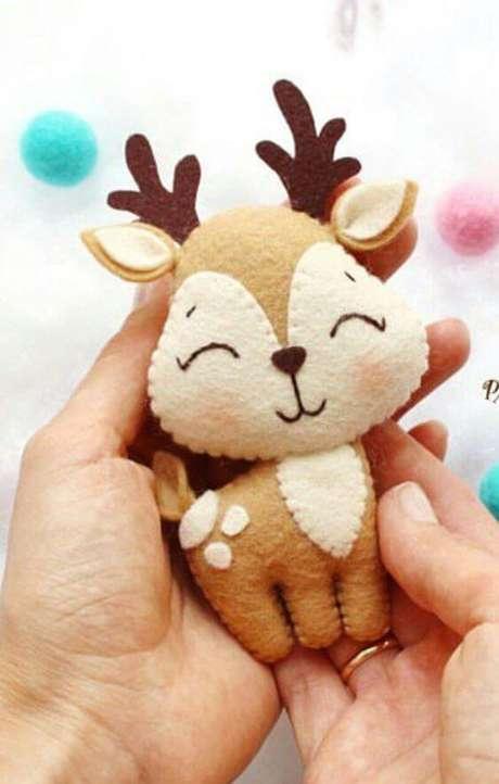 2. A rena é uma das melhores opções para colocar na guirlanda de feltro – Por: Pinterest