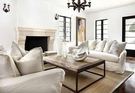 21. Tecido para sofá de linho branco. Fonte: Pinterest
