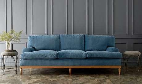 29. Tecido para sofá de veludo azul. Fonte: Pinterest