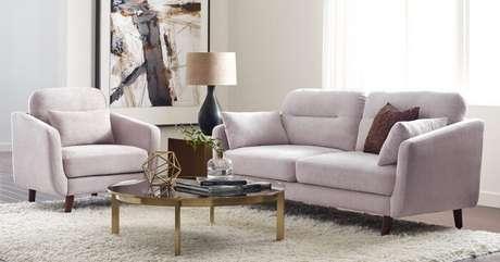 33. Tecido para sofá suede cor de gelo. Fonte: Pinterest