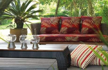 46. Tecido impermeável para sofá acquablock estampado. Fonte: Casa Aguiar