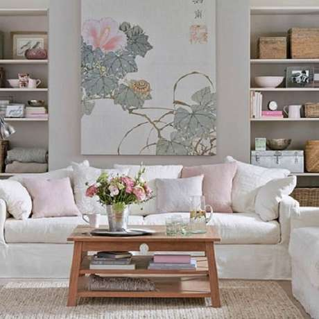 41. Tecido para capa de sofá branca. Fonte: Pinterest