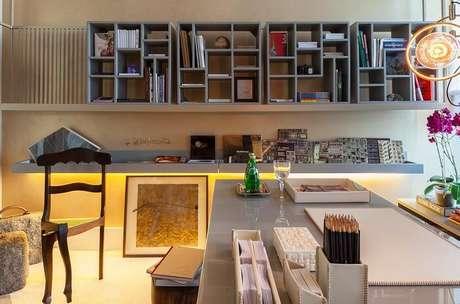 9. Para o quarto de estudante invista em paredes com tons neutros. Fonte: Pinterest