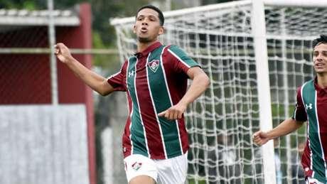 Samuel comemora gol da vitória sobre o Vasco (Foto: MAILSON SANTANA/FLUMINENSE FC)