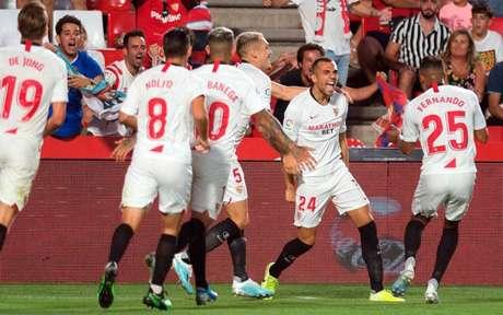 Joan Jordán marcou o gol do Sevilla (Foto: JORGE GUERRERO / AFP)