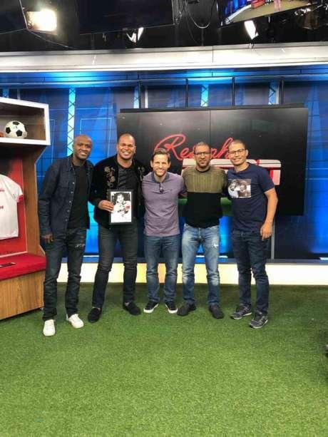 Reinaldo, Aloísio Chulapa, André Plihal, Djalminha e Alex estão no Resenha da ESPN desta sexta (Divulgação/ESPN)