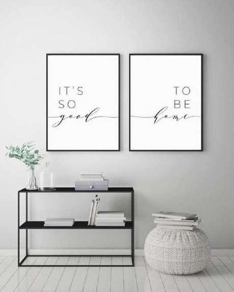 17. Os quadros decorativos com frases estão super em alta na decoração – Foto: DecorAmoreStore