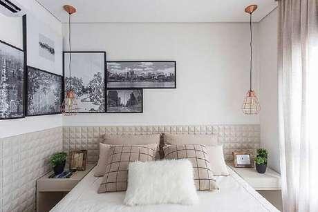 19. Saiba como harmonizar os quadros decorativos na parede para deixar a decoração com quadros mais bonita – Foto: Assetproject