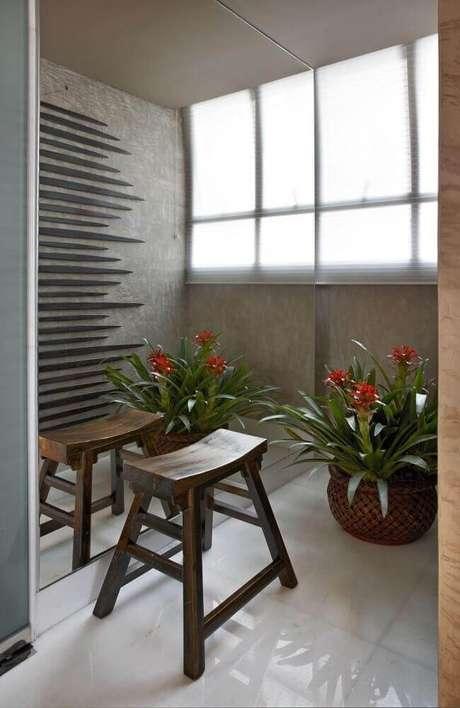 26. O vaso decorativo também pode ser usado para dividir ambientes