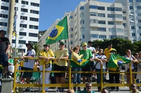 Manifestação em apoio a Sérgio Moro, no dia 30/06/2019, na Praia de Copacabana na zona sul da cidade do Rio de Janeiro