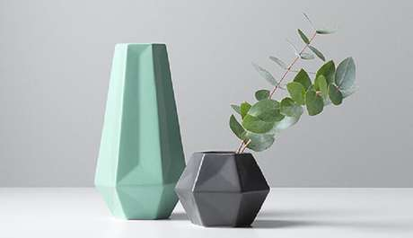 49. Inspiração de vasos decorativos com design moderno e delicado