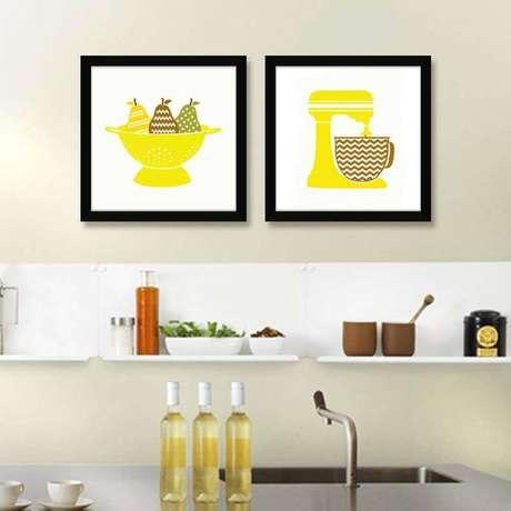 9. Faça seus próprios quadros decorativos para personalizar a sua decoração – Foto: Quadrecora