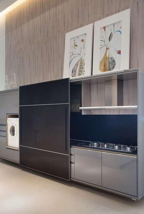 39. Quadros para decoração para cozinha planejada – Foto: Clique Arquitetura