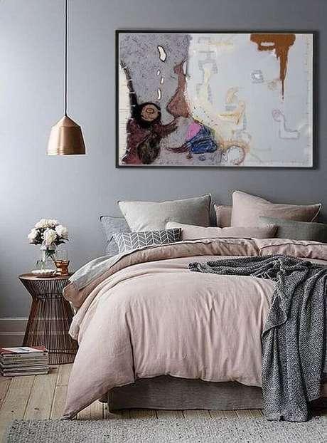 45. Quadros para decoração de quarto com pendente metalizado – Foto: Etsy