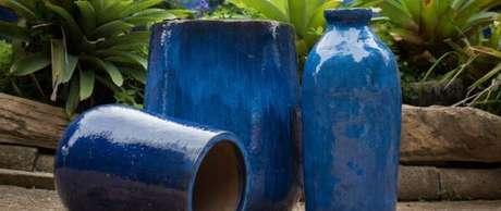 59. O vaso vietnamita azul é lindo para usar na decoração – Por: Loeil