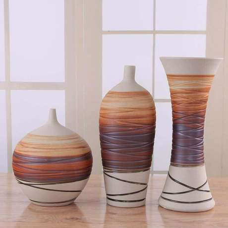 32. Os vasos decorativos nem sempre precisam conter plantas