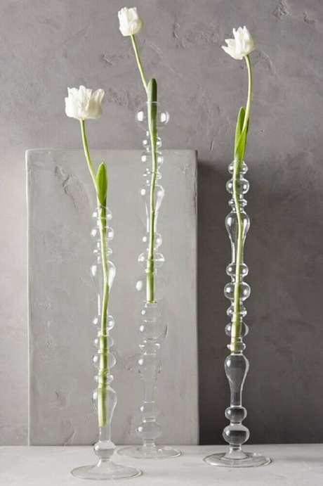 27. Modelos delicados de vasos decorativos de vidro