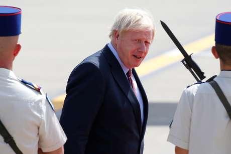 Boris Johnson, primeiro-ministro britânico, chega a Biarritz para cúpula do G7, França 27/08/2019. REUTERS/Regis Duvignau