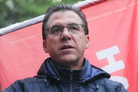 Luiz Marinho durante protesto do Partido dos Trabalhadores