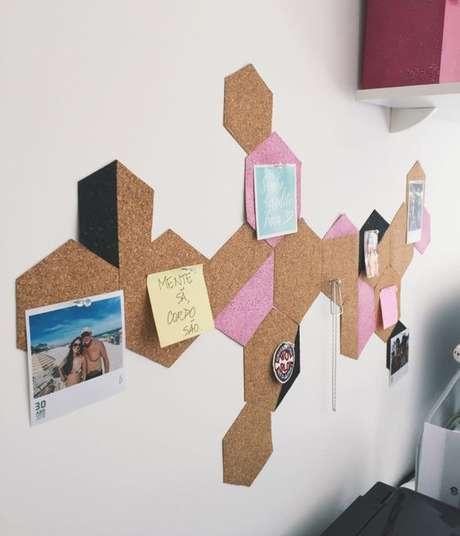 4. É possível fazer uma série de murais a partir da cortiça. Foto: Isadora Ferraz