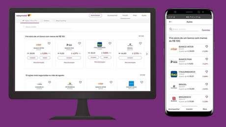Nova plataforma da Easynvest para renda variável.