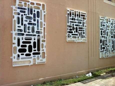 24. As grades para janelas para quarto também podem ser super modernas e diferenciadas – Por: Pinterest