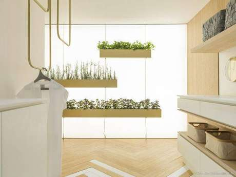 32. Horta suspensa em casa moderna. Projeto de Marília Pellegrini