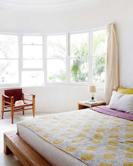 59. Quanto maior for a sua janela para quarto, mais iluminada será o ambiente – Por: Pinterest