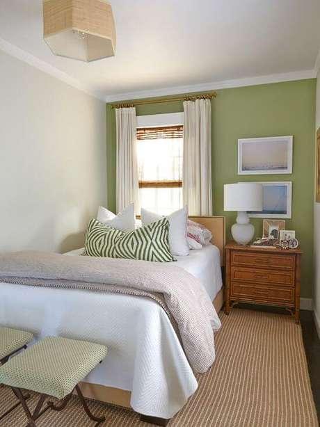 58. O quarto pequeno precisa ter uma janela pequena para ficar adequado – Por: Pinterest