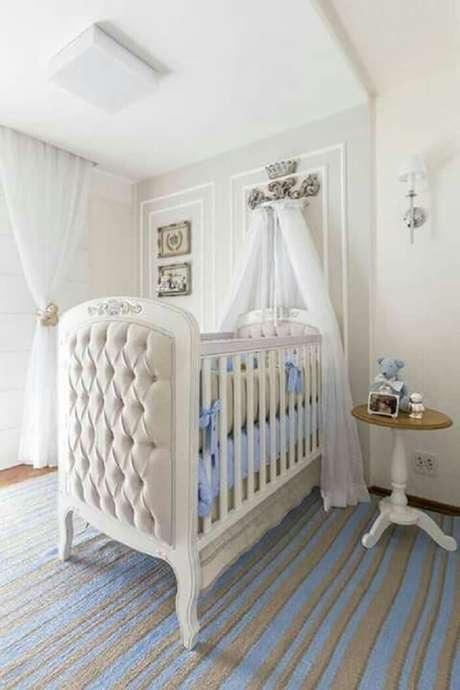 41. Quarto de bebê seguindo o estilo provençal. Fonte: Pinterest