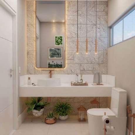 71. Azulejo para banheiro que imita pedra. Fonte: Pinterest
