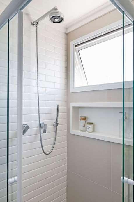 5. Os azulejos estilo subway tile estão super em alta! Projeto de GF Projetos