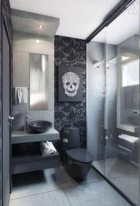 55. Banheiro com ardósia – Por: Uba Arquitetura
