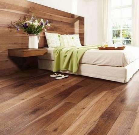 60. O piso laminado para quarto é prático de limpar e fica lindo na decoração – Por: Divisórias Dry Wall