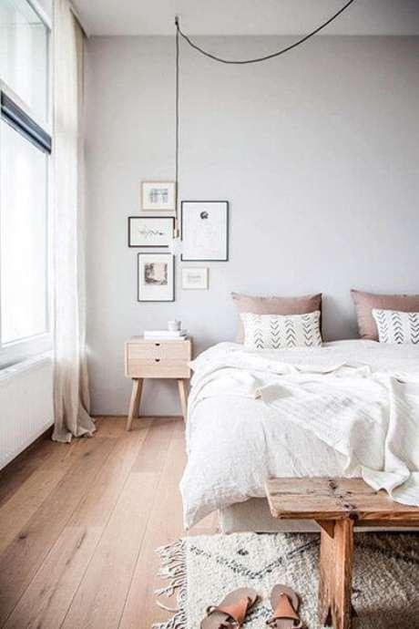 16. Use os pisos para quarto para combinar com os detalhes modernos – Por: Coisas da Leia