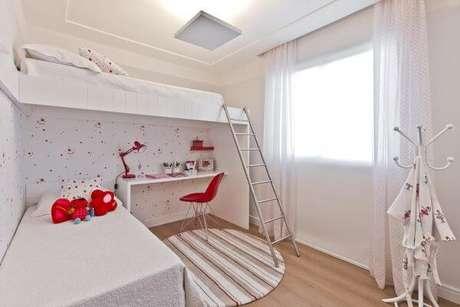 20. O quarto compartilhado também precisa de pisos para quarto neutros e bonitos – Por: Helaine Goes Pinterick
