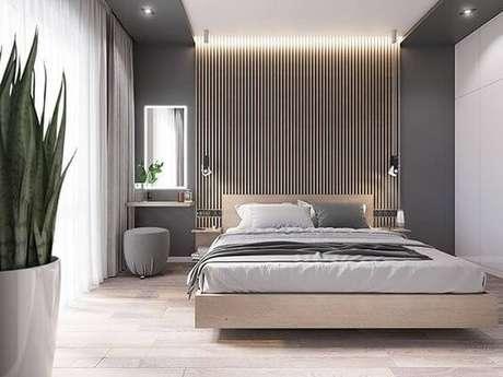 37. Os pisos para quarto claro são ótimos para decoração neutra – Por: Behance