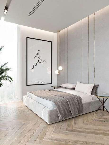 40. O quarto moderno também pode usar os pisos para quarto de madeira – Por: Luxo Quarto