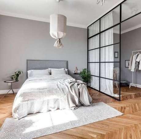 43. A cama fica linda em ambientes com pisos para quarto – Por: Revista VD