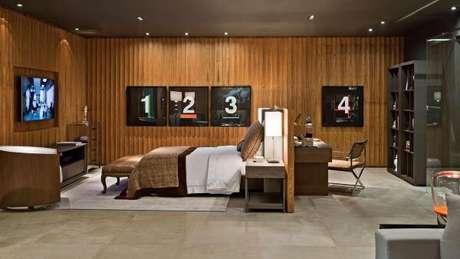 48. Pisos para quarto em ambientes integrados – Por: Jayme Bernardo Arquitetura