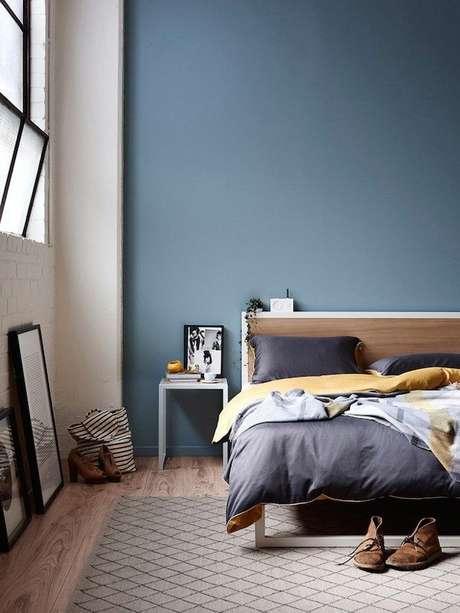 55. Quarto moderno com pisos para quarto de madeira – Por: Pinterest