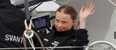 Greta iniciou sua viagem no porto de Plymouth, no sul da Inglaterra, no dia 13 de agosto