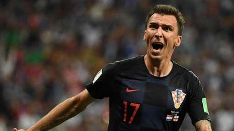 Mandzukic durante a Copa do Mundo com a seleção croata (Foto: AFP)