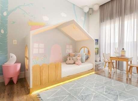 21. Use grades para garantir a segurança das crianças na cama casinha infantil – Por: Casa e Jardim