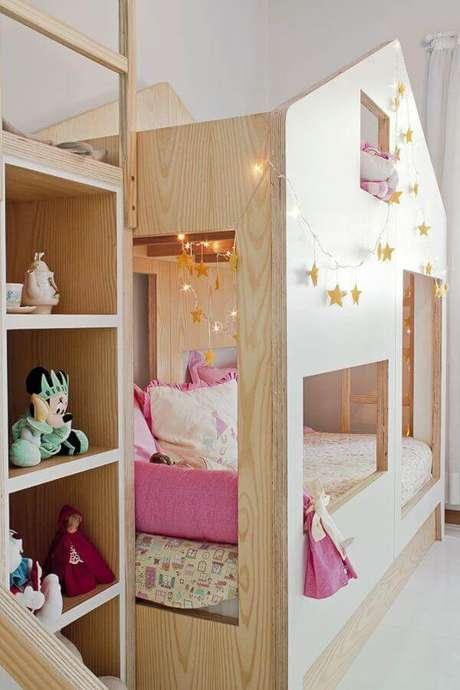 28. Beliche estilo cama casinha para quartos compartilhados – Por: Pinterest