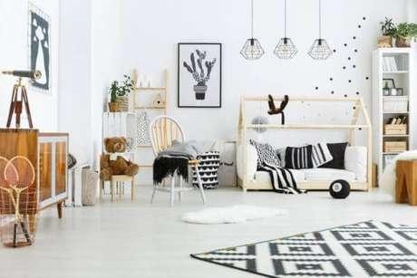 26. Quartos modernos também podem contar com a cama casinha – Por: Blog WoodPrime