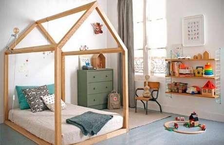 4. Casa casinha com decoração verde e azul – Por: Tarsila Girão Arquitetura