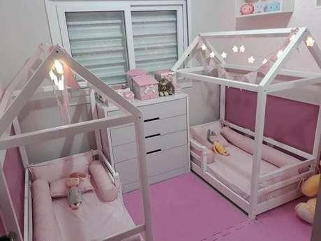 38. Cama casinha montessoriana para quarto de meninas – Por: Pinterest